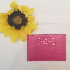 KATE SPADE Hot Pink Card Holder